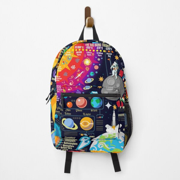 Space Universe Infographics Big Bang Backpack
