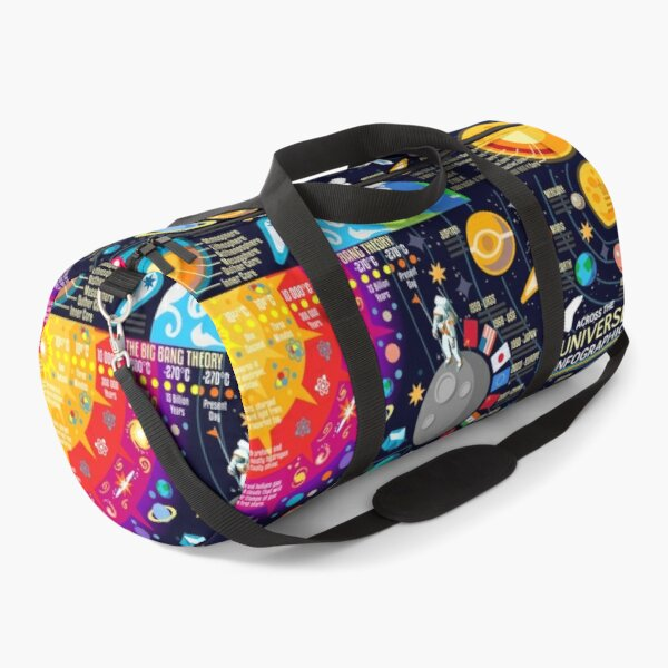 Space Universe Infographics Big Bang Duffle Bag