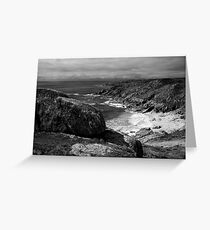 Porthcurno Beach Greeting Card