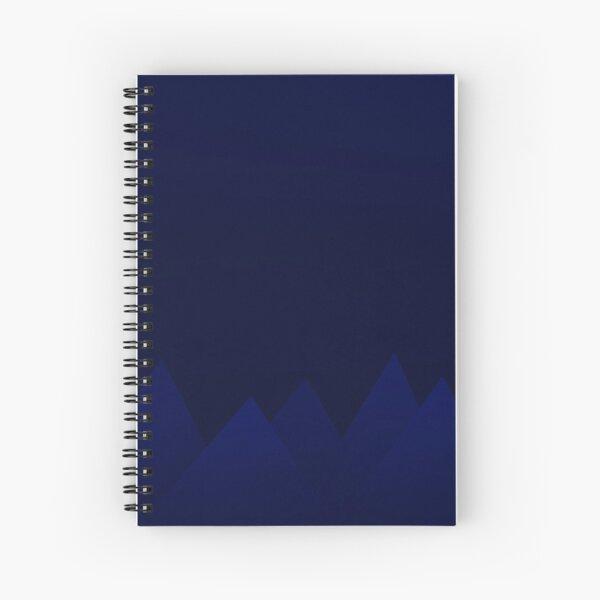 Dark Blue Abstract Mountains Spiral Notebook