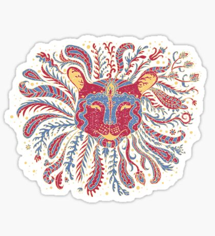 Paisley Lion Sticker
