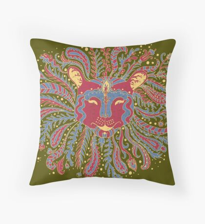 Paisley Lion Throw Pillow