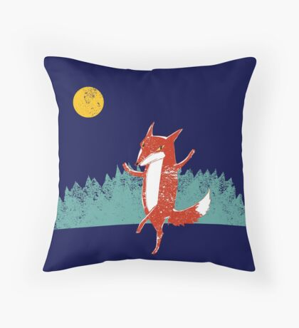 Fox dance  Throw Pillow