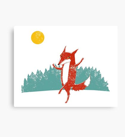 Fox dance  Canvas Print