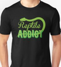 Reptile Addict (with snake) T-Shirt
