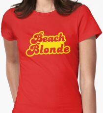 Beach blonde in yellow Women's Fitted T-Shirt