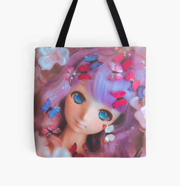 Flower clouds (A) · Melocoton All Over Print Tote Bag