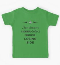 Sherlock Holmes sentiment quote [black and white] Kids Tee