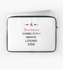 Sherlock Holmes sentiment quote [colored] Laptop Sleeve