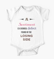 Sherlock Holmes sentiment quote [colored] Kids Clothes