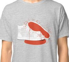Louboutin mens sneakers with blood and spatters Classic T-Shirt