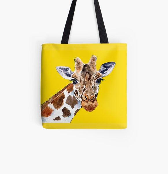 Giraffe All Over Print Tote Bag