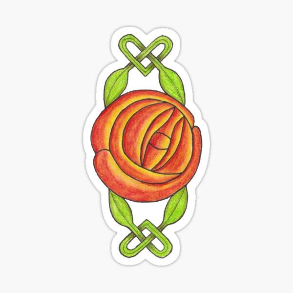 Valentine Rose Sticker