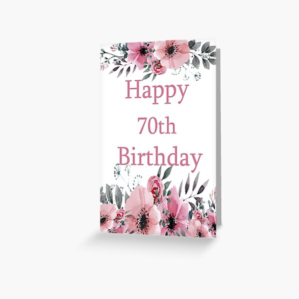birthday of a Woman Congratulations Card for 70