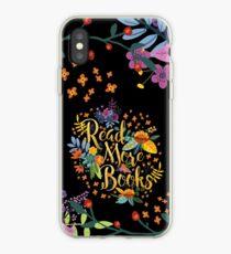 Vinilo o funda para iPhone Leer más libros - Floral Gold - Black