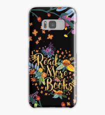 Read More Books - Floral Gold - Black Samsung Galaxy Case/Skin