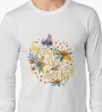 Read More Books - Floral Gold - Black T-Shirt
