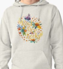 Read More Books - Floral Gold - Black Pullover Hoodie