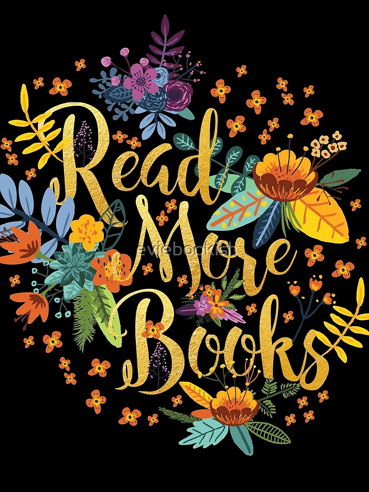 Read More Books - Floral Gold - Black by eviebookish
