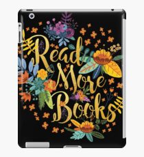 Read More Books - Floral Gold - Black iPad Case/Skin