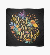 Lesen Sie mehr Bücher - Floral Gold - Schwarz Tuch