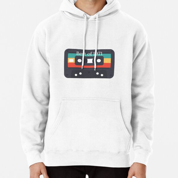 Best Of 1971 50st Birthday Gifts Cassette Tape Vintage  Pullover Hoodie