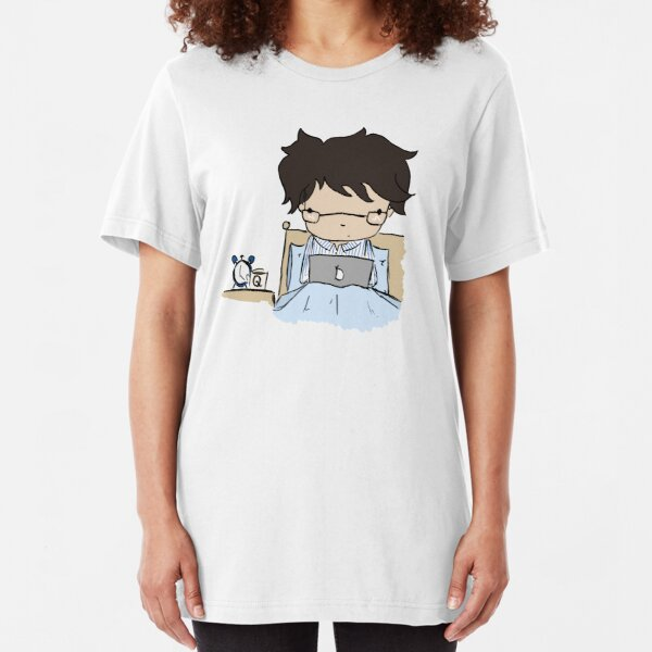 Q In Pyjamas (without text) Slim Fit T-Shirt