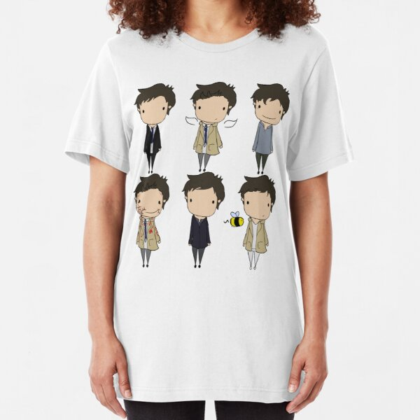 The Many Faces of Castiel Slim Fit T-Shirt