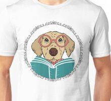 Reading Dog Unisex T-Shirt