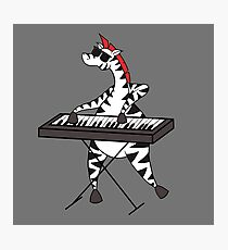 Zebra Keyboard Photographic Print