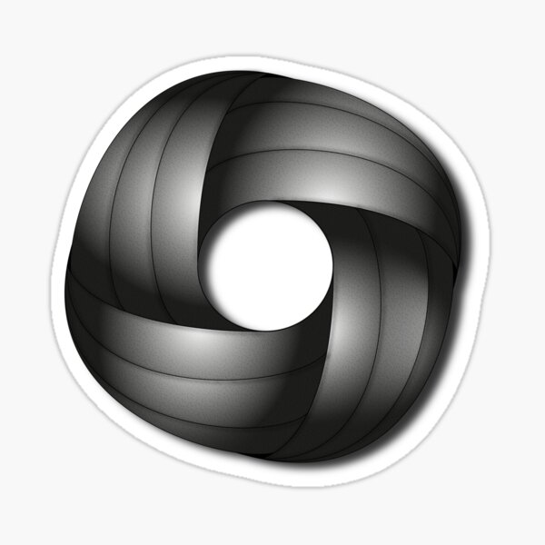 3D monochrome circle and square pattern Sticker
