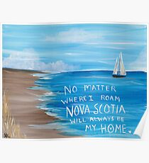 Nova Scotia Sailboat  Poster
