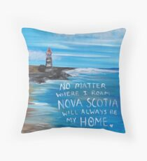 Nova Scotia Lighthouse Throw Pillow