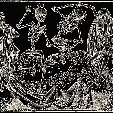 Dance of Death / Dance of macabre - white print by Bela-Manson
