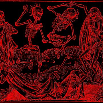 Dance of Death / Dance of macabre - red print by Bela-Manson