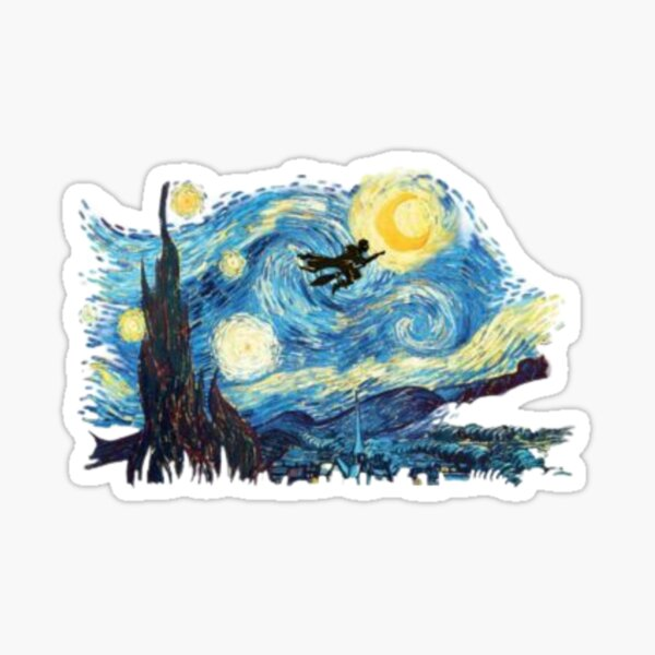 Flying to the Moon Sticker