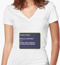 Science Terms - Parallel Universes Women's Fitted V-Neck T-Shirt