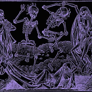 Dance of Death / Dance of macabre - violet print by Bela-Manson