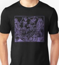 Totentanz / Dance of macabre - violet print T-Shirt