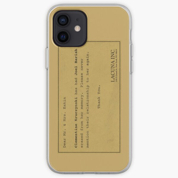Eternal Sunshine Memory Loss iPhone Soft Case