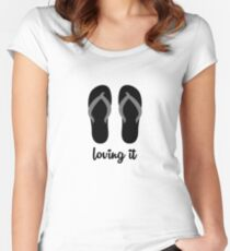 loving it  Women's Fitted Scoop T-Shirt