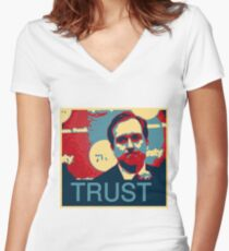In Hinkie We Trust Women's Fitted V-Neck T-Shirt