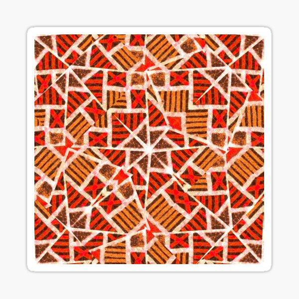 African Textile Pattern Sticker