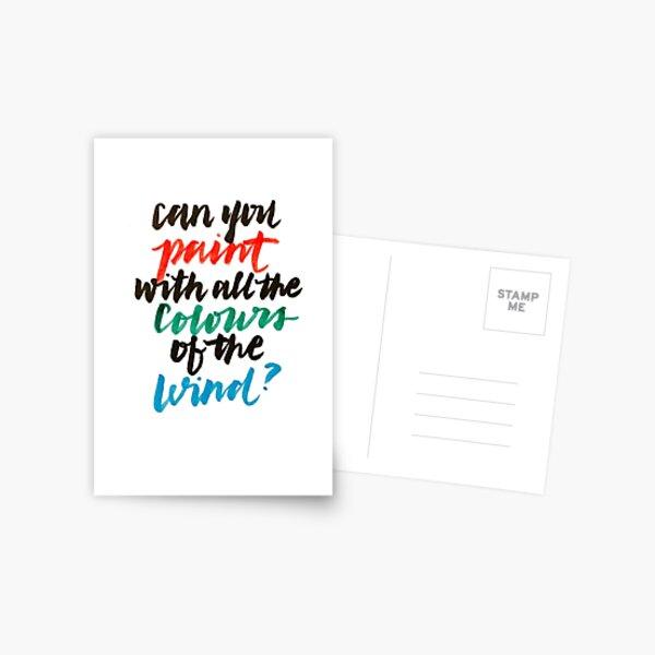 Couleurs du vent Carte postale
