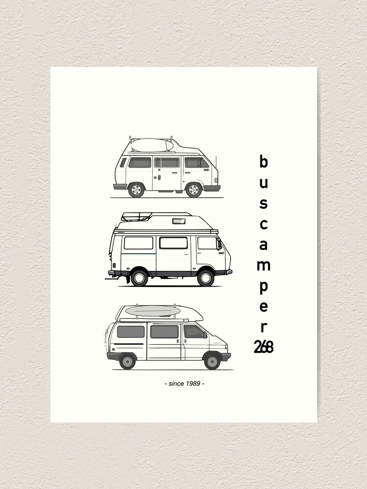 Alternate view of Just the campervans Art Print