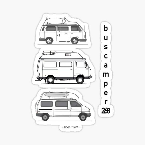 Just the campervans Sticker