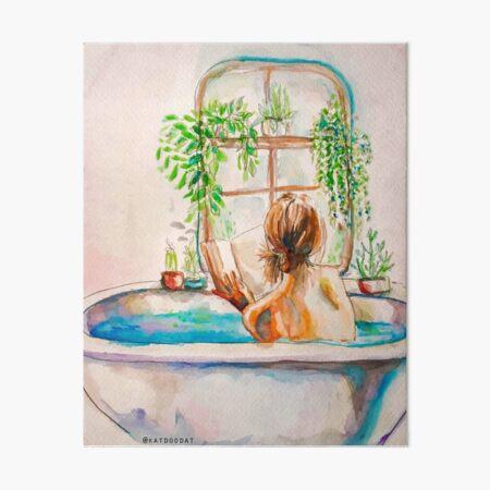 Watercolor Bath Art Board Print