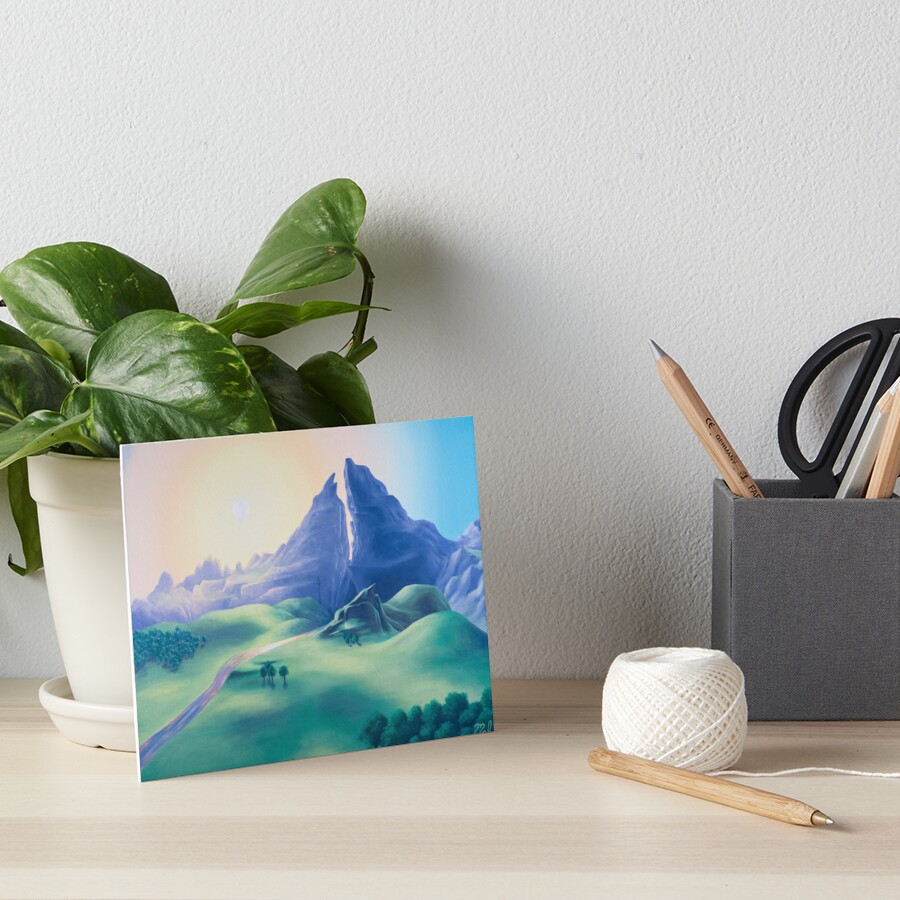 Dueling Peaks Art Board Print