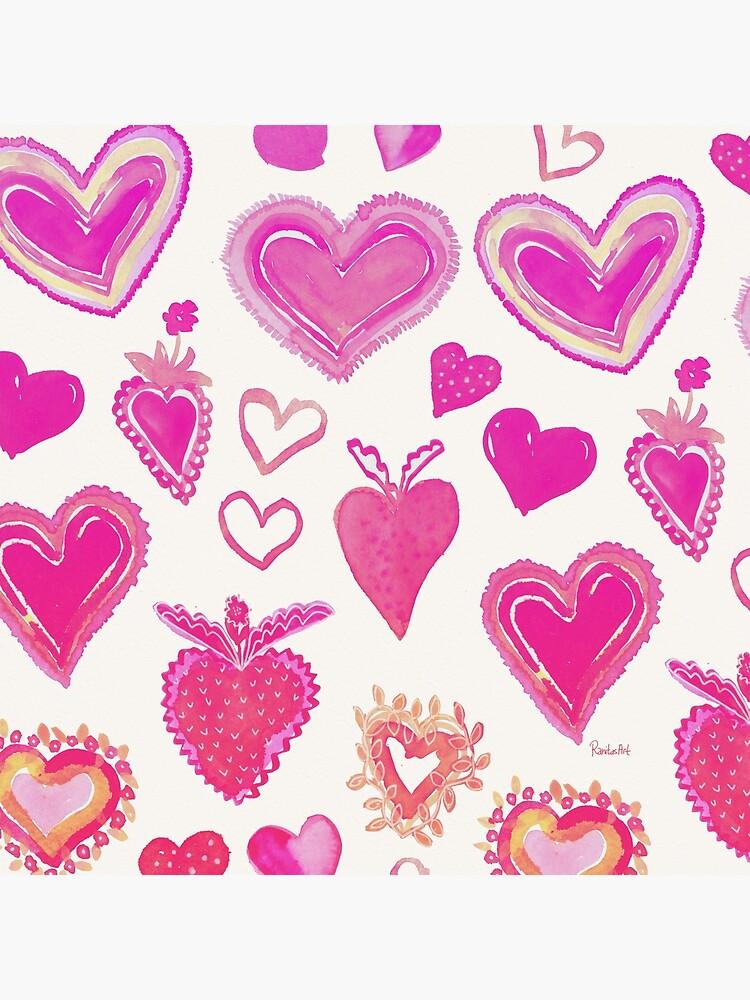 Pink Herze von RanitasArt