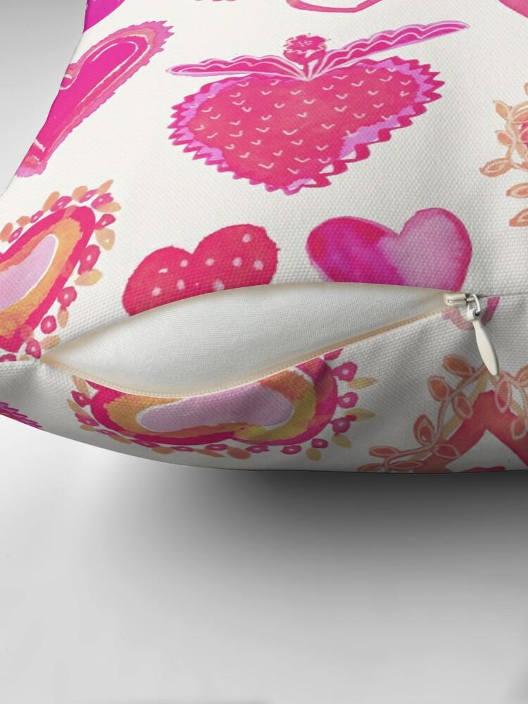 Alternative Ansicht von Pink Herze Bodenkissen
